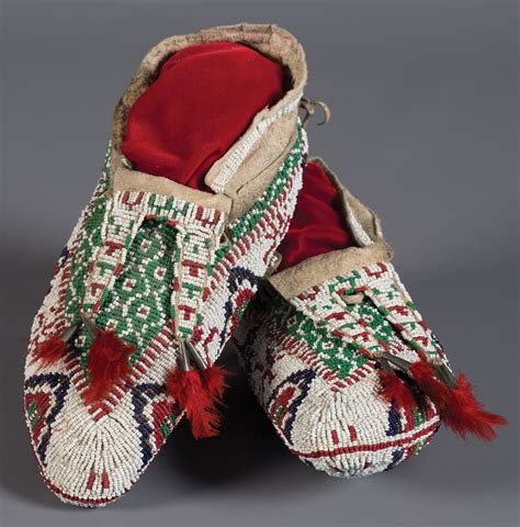 fully beaded central plains moccasins west events