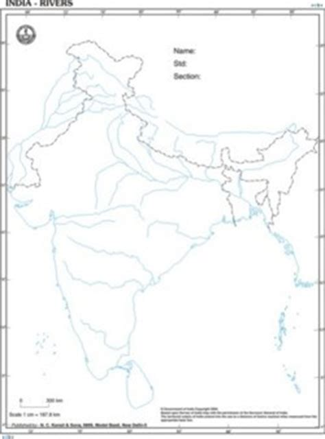 Rivers Of India Map Outline by Outline Maps Outline Maps Manufacturer Supplier Exporter