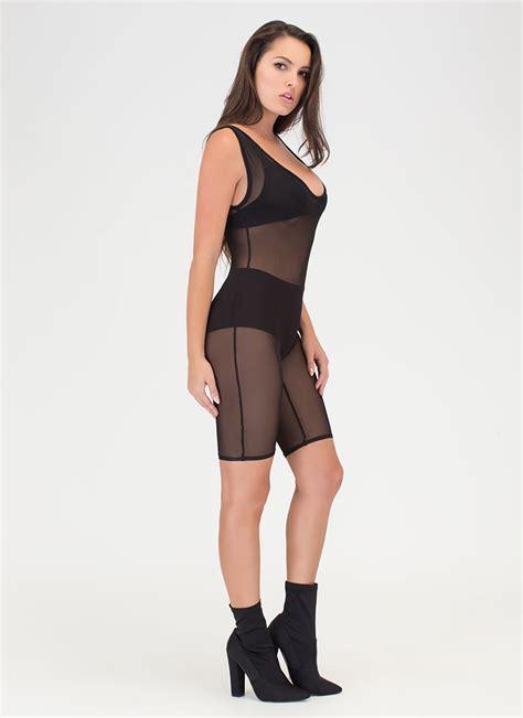 Jumpsuit Back Mesh Transparant Open Back Katun Dingin Tribal that s for sheer mesh jumpsuit taupe white black