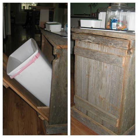 diy pallet trash can cabinet 12 best images about pallet trash can holder on