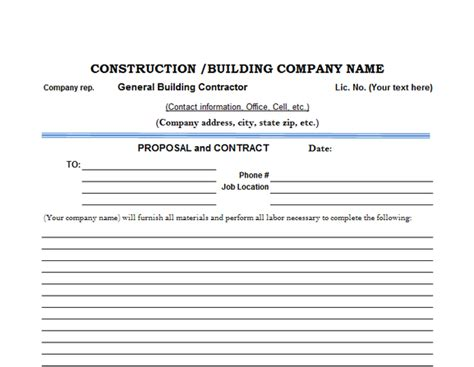 5 of the Top Free Construction Estimate Templates