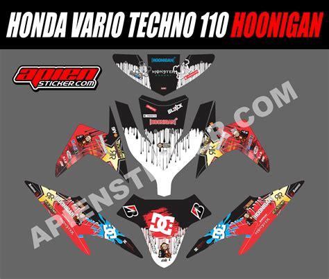 Sticker Striping Motor Stiker Yamaha Mio Sporty Hoonigan Silver Spec B 1 striping motor vario techno 110 hoonigan apien sticker