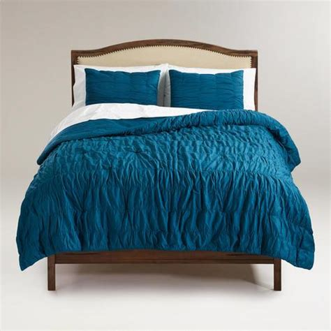 blue bed comforters blue ruched comforter