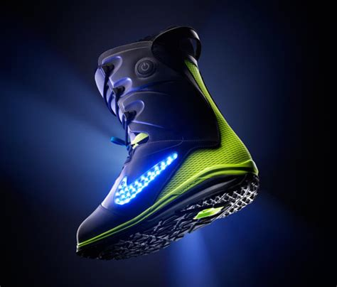 light up snowboard boots nike snowboarding boots with led glowing swoosh geekologie