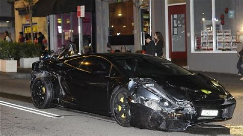 smashed lamborghini crash car a 450 000 write dailytelegraph au