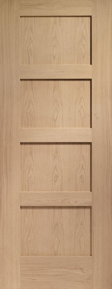 Four Panel Interior Door by Shaker 4 Panel Oak Door