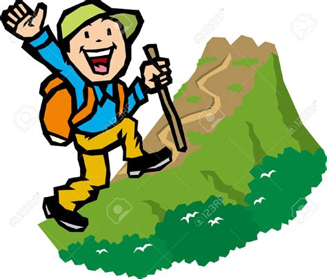 clipart montagna hiking clipart mountain trekking pencil and in color
