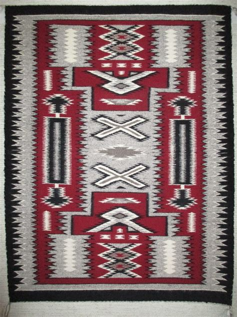 Navajo Rug Design by Pattern Weaving By Stella Harrison Medium Size
