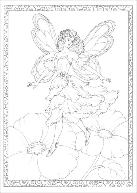 enchanted fairies coloring book creative 064107