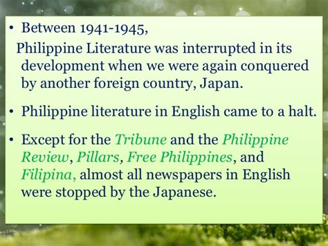 Philippine Literature In Essay by Japanese Period Of The Philippine Literature