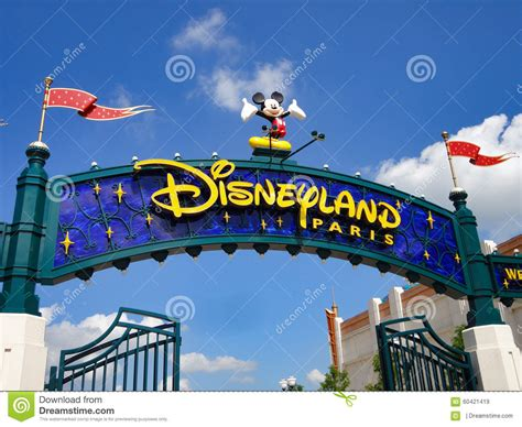 eurodisney ingresso entr 233 e de disneyland image stock 233 ditorial image
