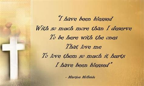song lyrics martina mcbride blessed by martina mcbride praise