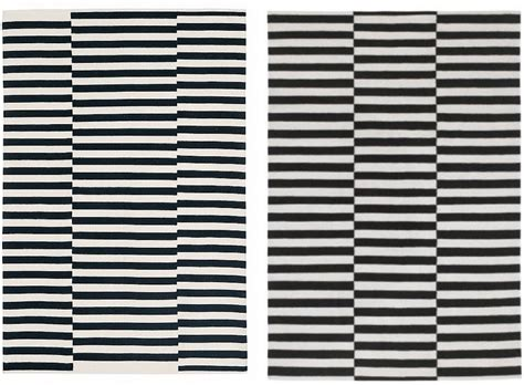 ikea black and white striped rug take pottery barn and ikea rugs