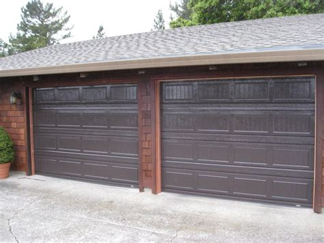 Brown Garage Door by Grooved Doors In Brown Garage Doors Gates