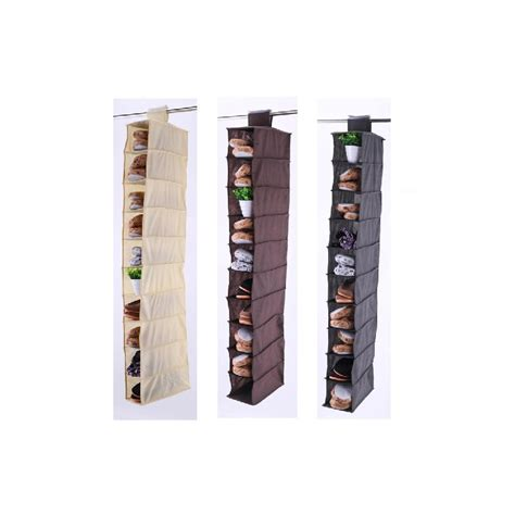 shoe rack hanging 10 section hanging shoe rack organiser storage stand ebay