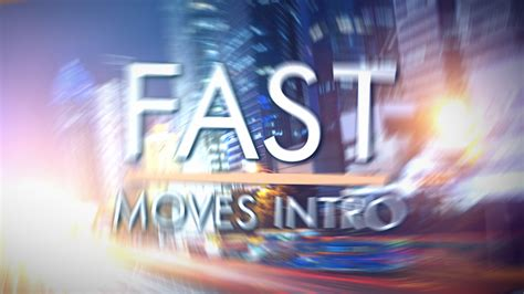 Fast Moves Intro Final Cut Pro X Template Cut Pro Intro Templates