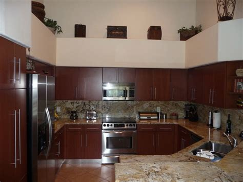 Modern Kitchen Cabinets Shown In Cherry Wood Modern Cherry Kitchen Cabinets