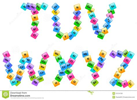 Letter Elements Periodic Table Of Elements Alphabet Letters Royalty Free Stock Image Image 31314136
