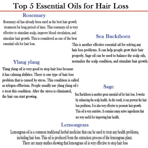 essential oil to prevent hair loss hair loss help