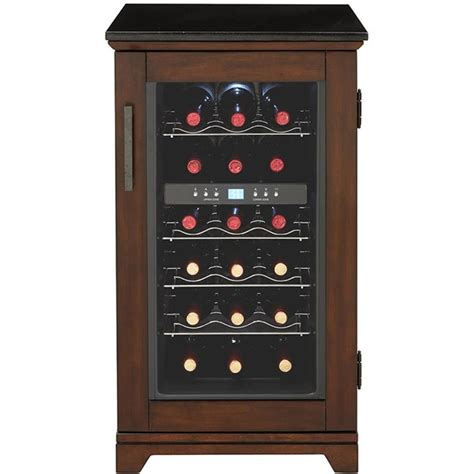 cabinet wine chiller shop living 18 bottle dual zone wine chiller at
