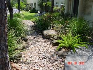 Landscape With Rocks Swell Walkway Rock Bed Lined With Asparagus Fern
