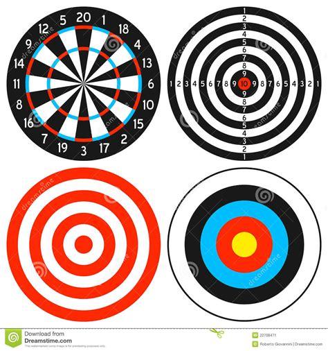 printable dart board targets dartboard and target set stock image image 22708471