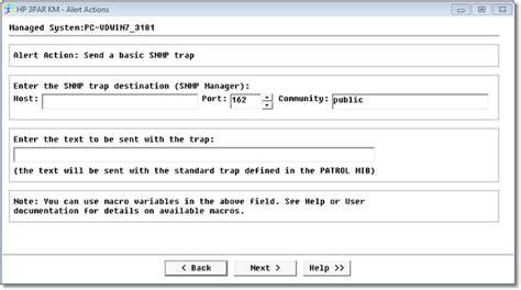 send snmp trap send a basic snmp trap