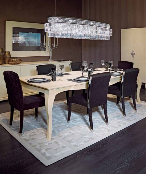 fendi casa dining table canova dining table in leather with a frame made of