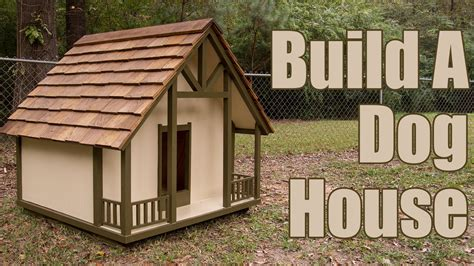 custom build a house how to build a dog house youtube