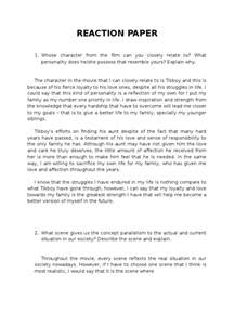 Reaction Essay Outline by Reaction Essay Exle Pevita