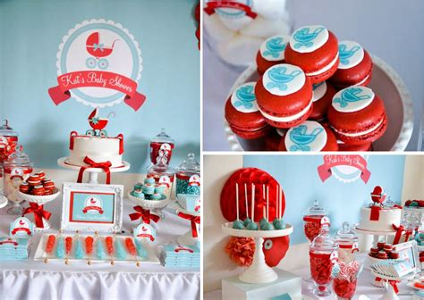 Baby Shower Themes by Kara S Ideas Baby Carriage Gender Neutral Boy