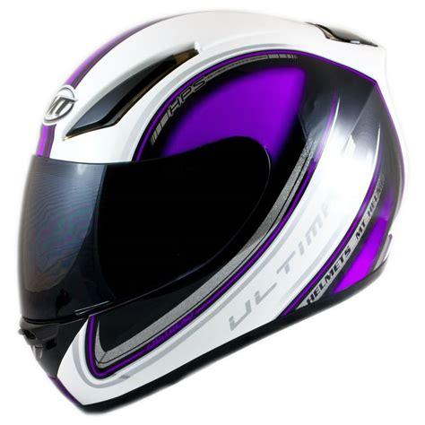 purple motocross helmet mt revenge ultimate motorcycle motorbike bike full face