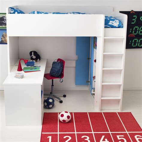 stuva desk and units with forhoja box shelves from ikea with the stuva loft bed you get a complete solution for