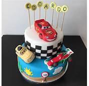 Cars Cake With Lightning Mcqueen Luigi And Francesco