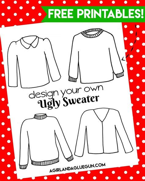 free ugly sweater printables how to throw the ultimate sweater a and a glue gun