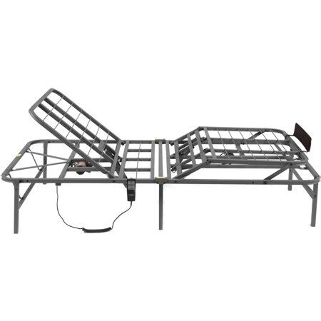pragmatic adjustable bed frame and foot sizes walmart