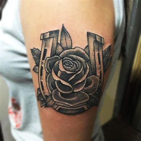 rose and horseshoe tattoo traditional horseshoe and by joshua nordstrom tattoos