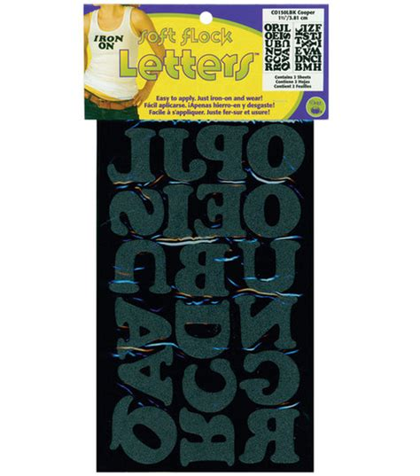 dritz iron on printable fabric iron on letters 1 1 2 cooper black jo ann
