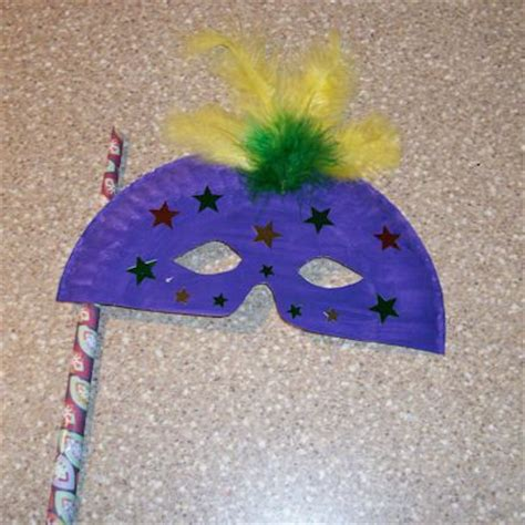 Mask Craft Paper Plate - how to make a paper plate mask craft
