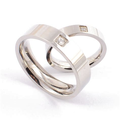 new 2015 silver plated titanium steel wedding bands