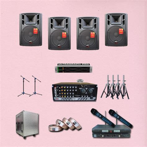 Paket Sound System Karaoke Linkmaster 6 Icnh Bluetooth paket multi media 7 jual sound system