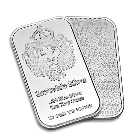 1 ounce silver bar value scottsdale 1oz silver bar one ounce 999 silver