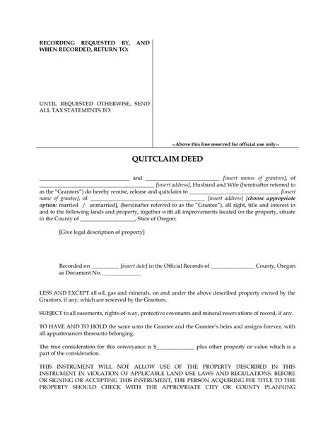 printable quit claim deed form best photos of missouri quit claim deed pdf quit claim