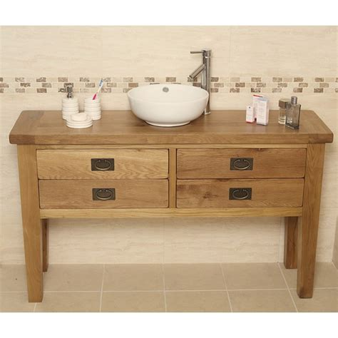 rustic bathroom vanity units valencia rustic oak bathroom vanity unit click oak