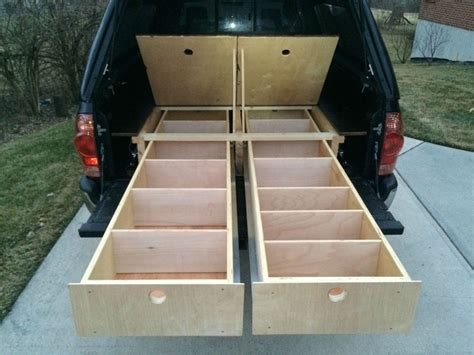 diy wood truck bed wood truck bed storage drawers diy truck bed storage