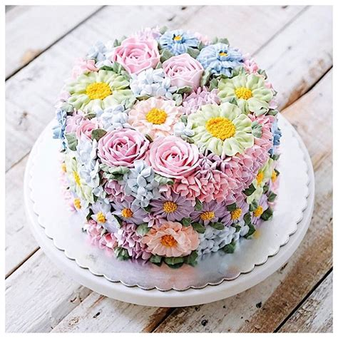 Flower Garden Cake Cakes Pinterest Best 10 Flower Cakes Ideas On Pinterest