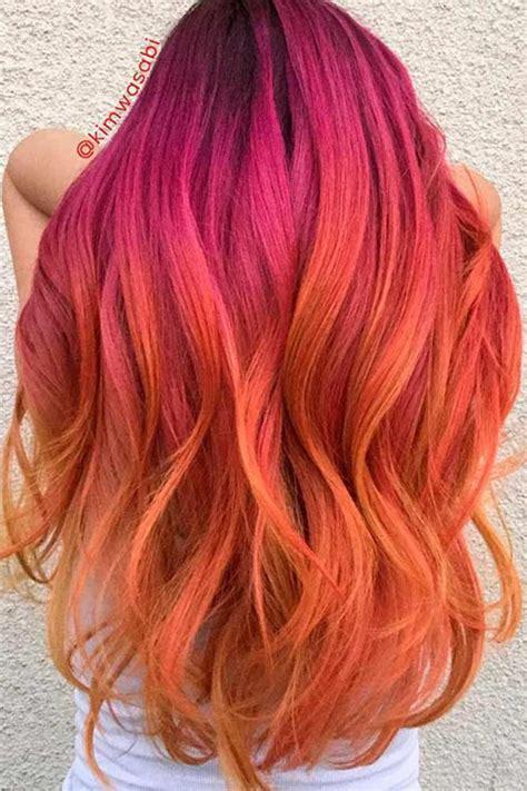 daring pink  orange hairstyles huge