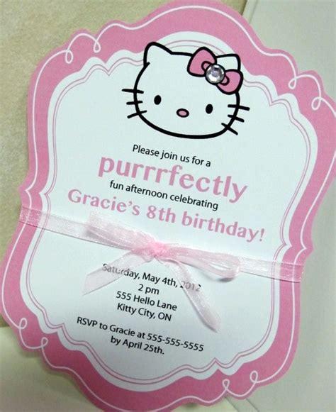 hello kitty themed invitation hello kitty birthday party ideas pink lover