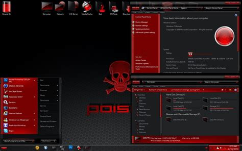 themes download download poison complete windows 7 theme free download by