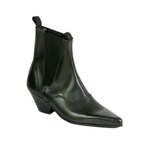 mens underground black beatle chelsea boots with cuban